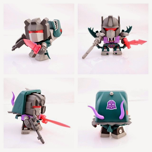 San Diego Comic-Con 2014 Exclusive Shattered Glass Dinobots Transformers Mini Figure 3 Pack by The Loyal Subjects - Slag, Grimlock & Snarl