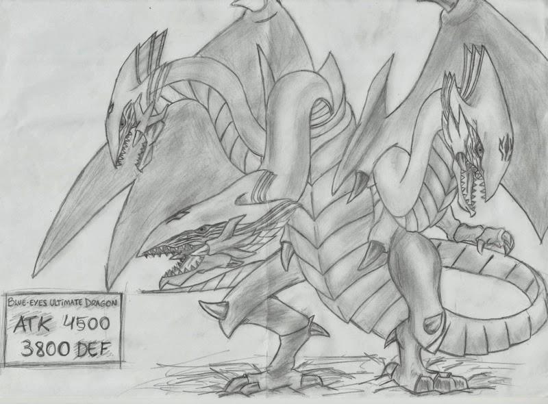 Dragão Branco de Olhos Azuis - Yu-Gi-Oh! - (desenho)