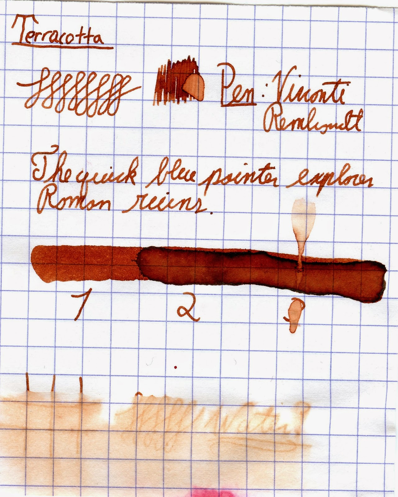 Diamine 150th Anniversary Inks Overview - Terracotta