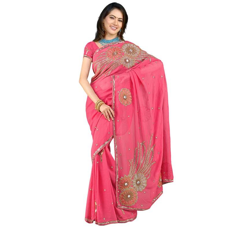 Cara Memakai Busana Model Baju Sari India