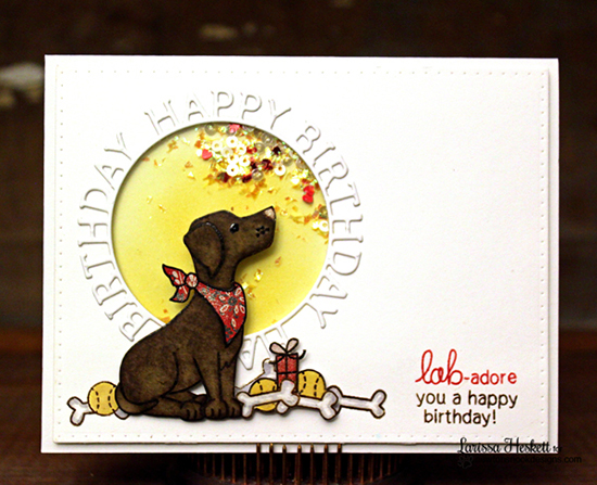 Happy Birthday Card by Larissa Heskett | Fetching Friendship Dog Stamp set by Newton's Nook Designs
