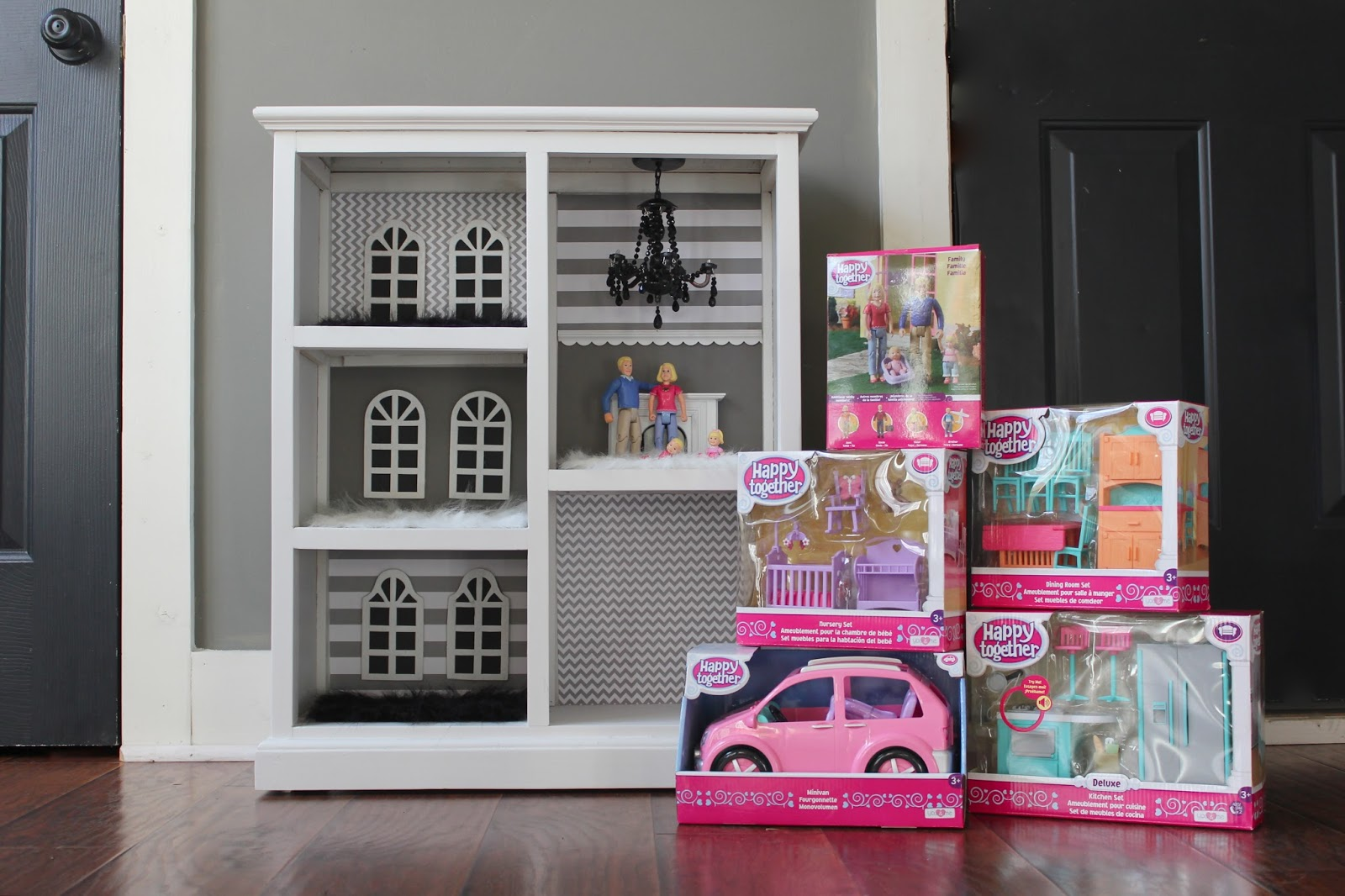 The Yellow Cape Cod Diy Dollhouse From A Bookcase