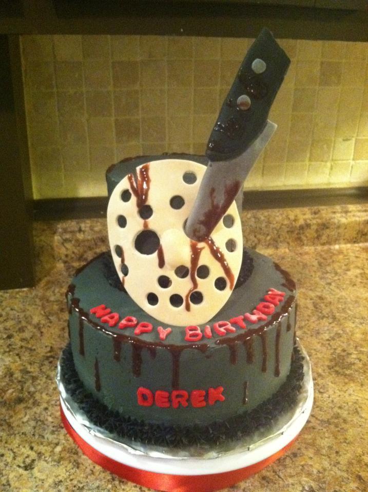 Jason Voorhees Wedding Cake