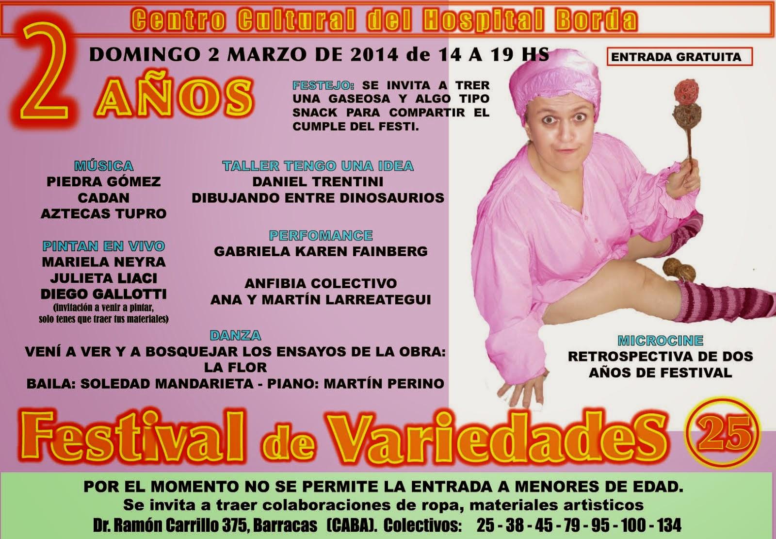Página Facebook Festival de Variedades del C.C. Borda