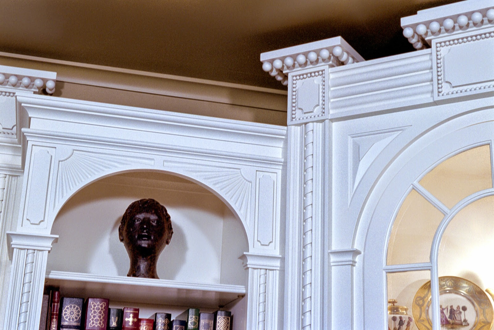 white, painted interior trim, molding, and handcrafted woodworking
