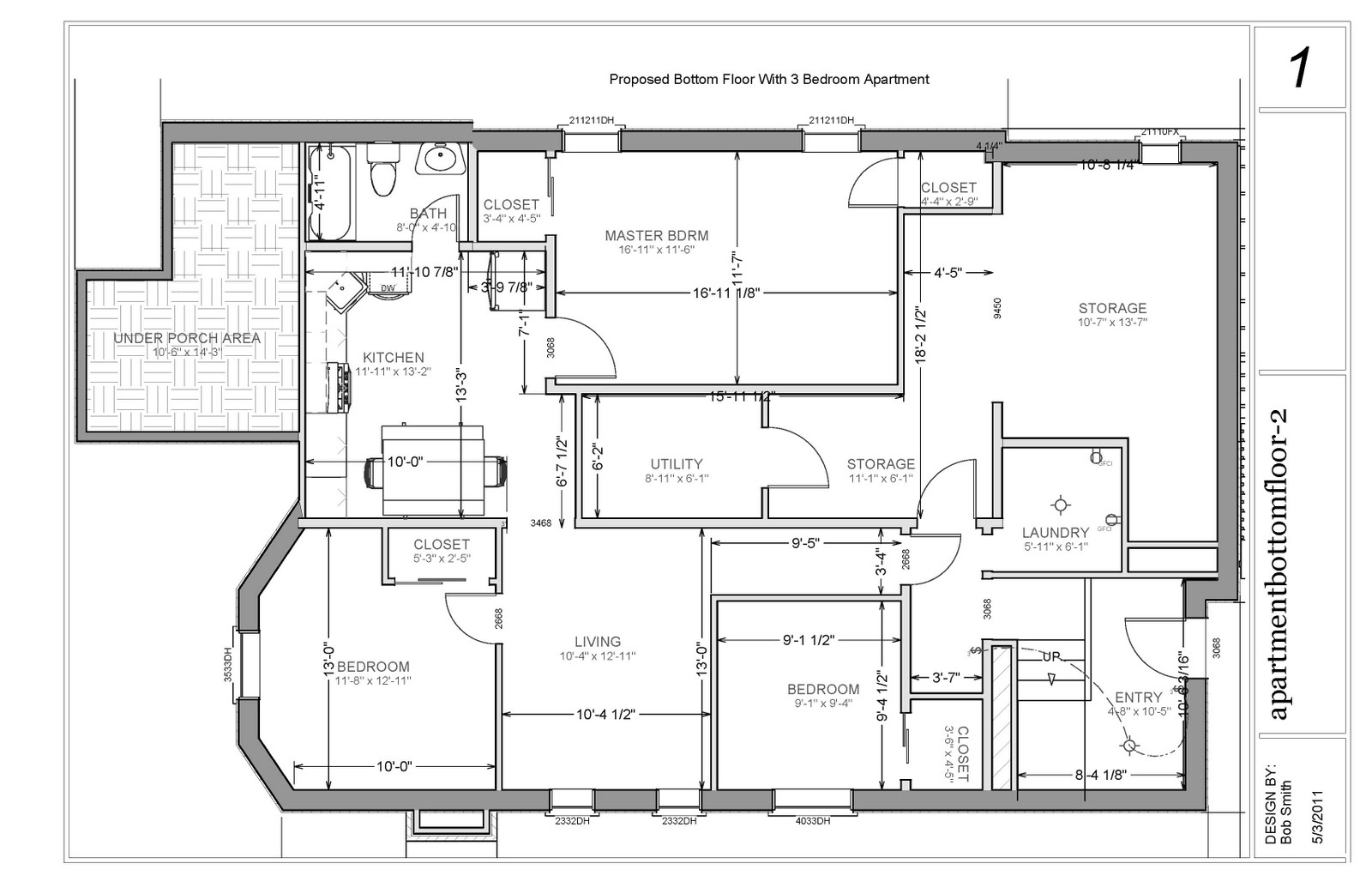 House Plans 2 Bedroom Basement Apartment