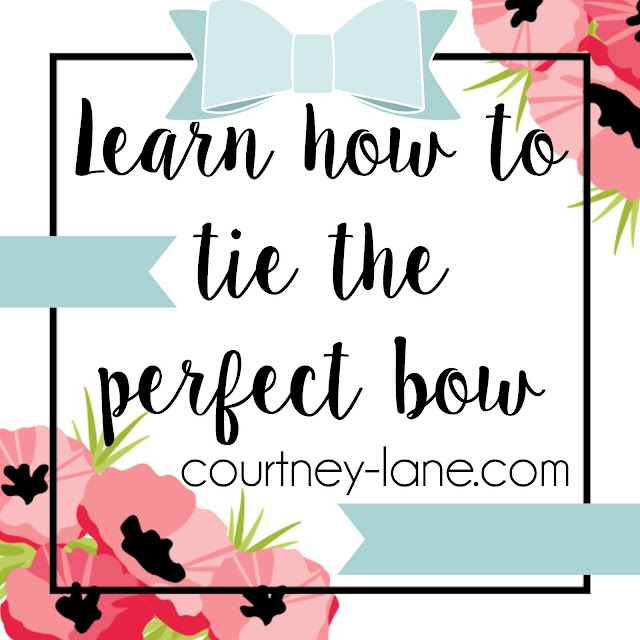 Learn how to tie the perfect bow