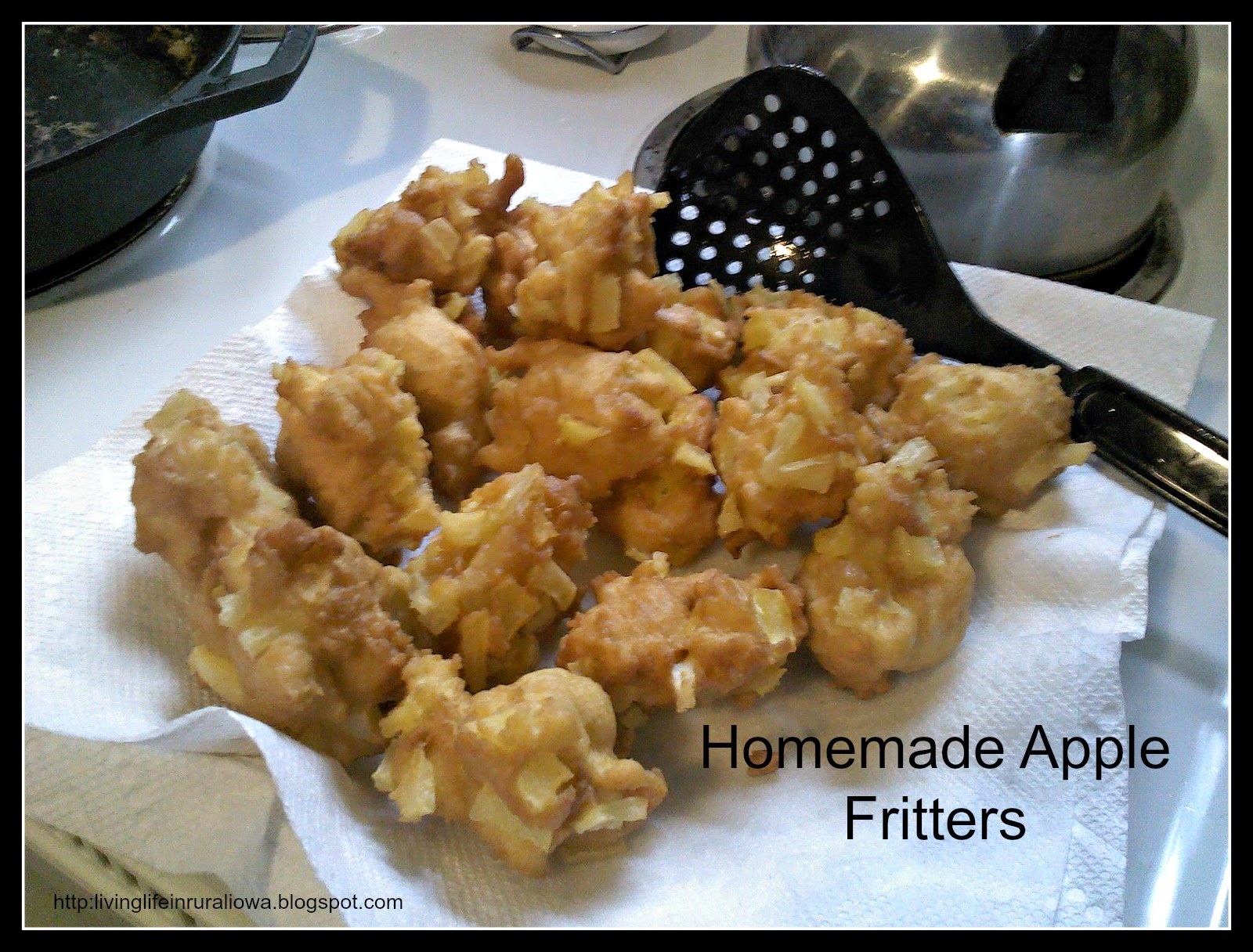 Living life in rural iowa homemade apple fritters