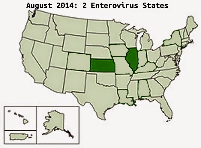 August 2014, Enterovirus confirmed in 2 states
