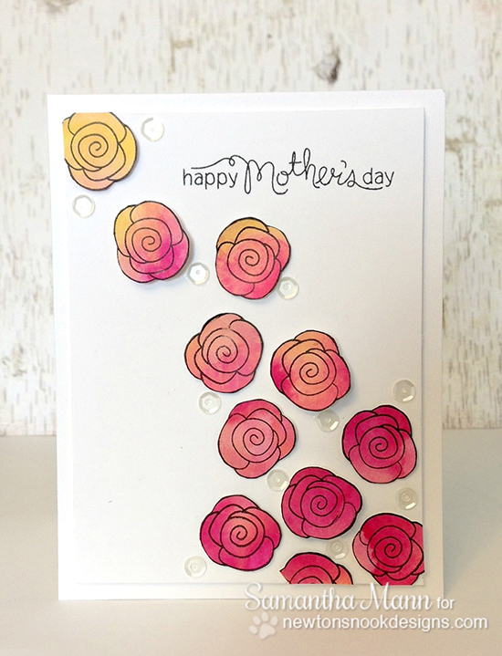 Mother's Day Rose card by Samantha Mann for Newton's Nook Designs | Love Grows