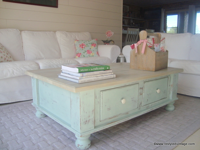 Beautiful shabby chic coffee table by Restyled Vintage