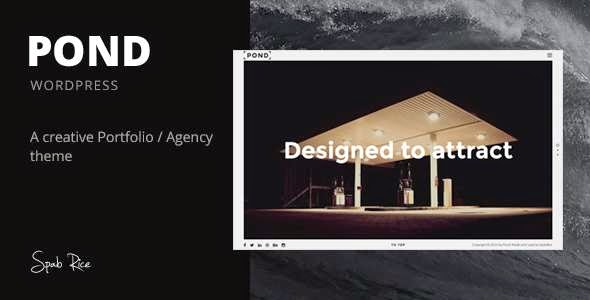 Pond - Creative Portfolio Agency WordPress Theme