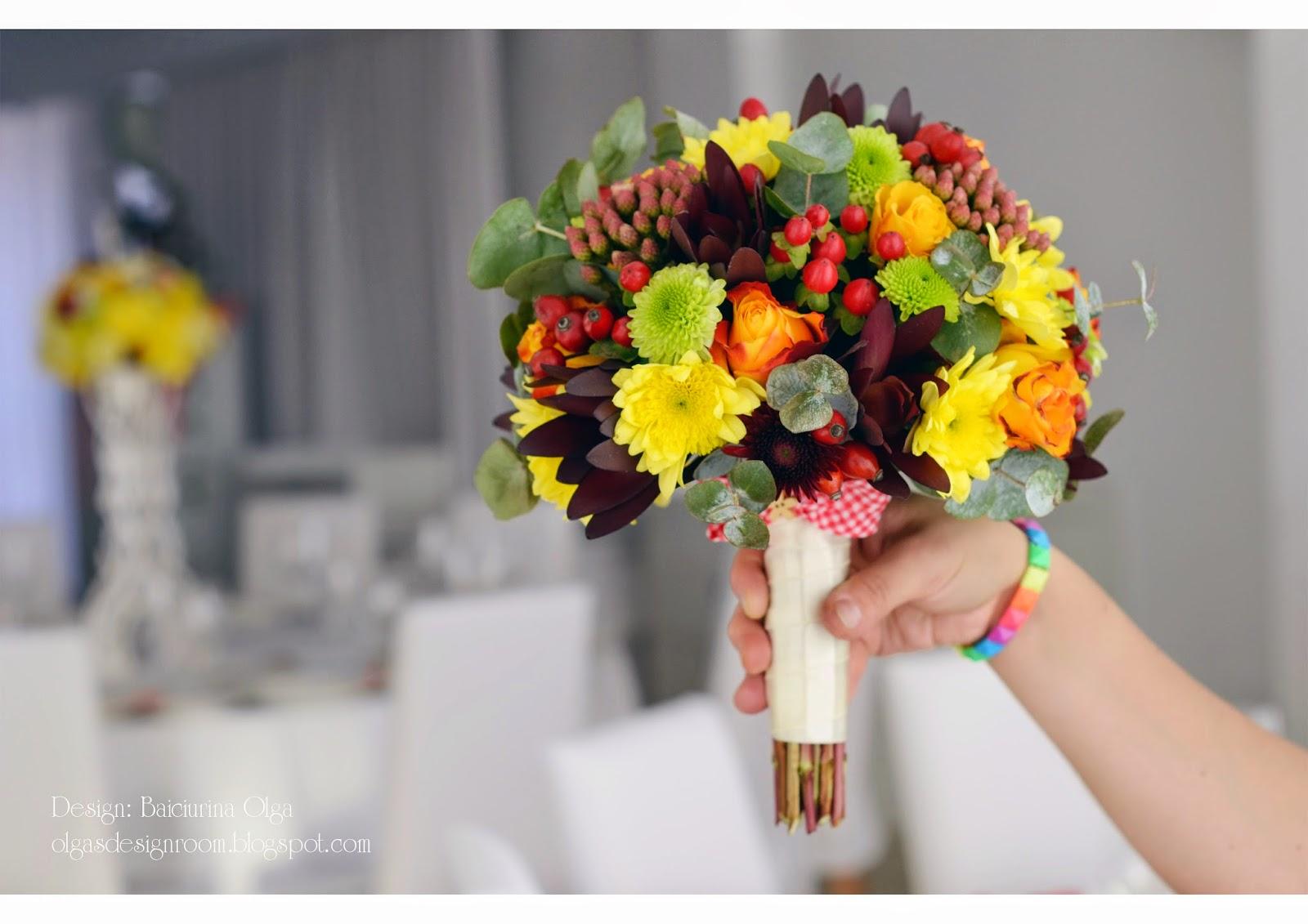 Составление букетов из живых цветов 54