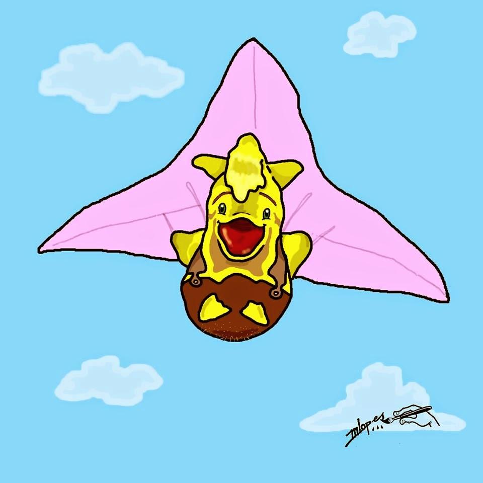 orkemon felizis ilustração criada pelo Desenhista Marcelo Lopes de Lopes