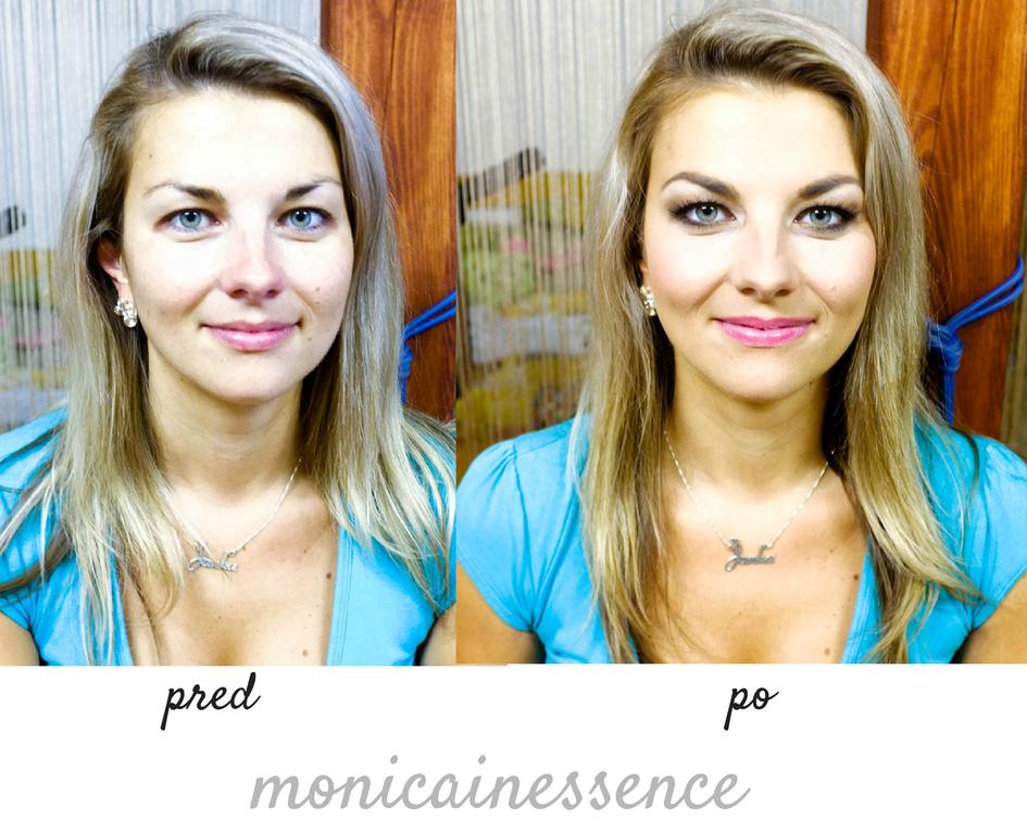 vizážistka, blog, pred a po, premena