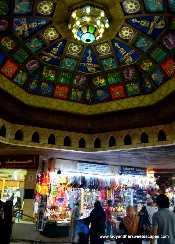 stained glass patterns in Mutrah Souq Oman
