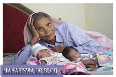 anak kembar, ibu tertua dunia
