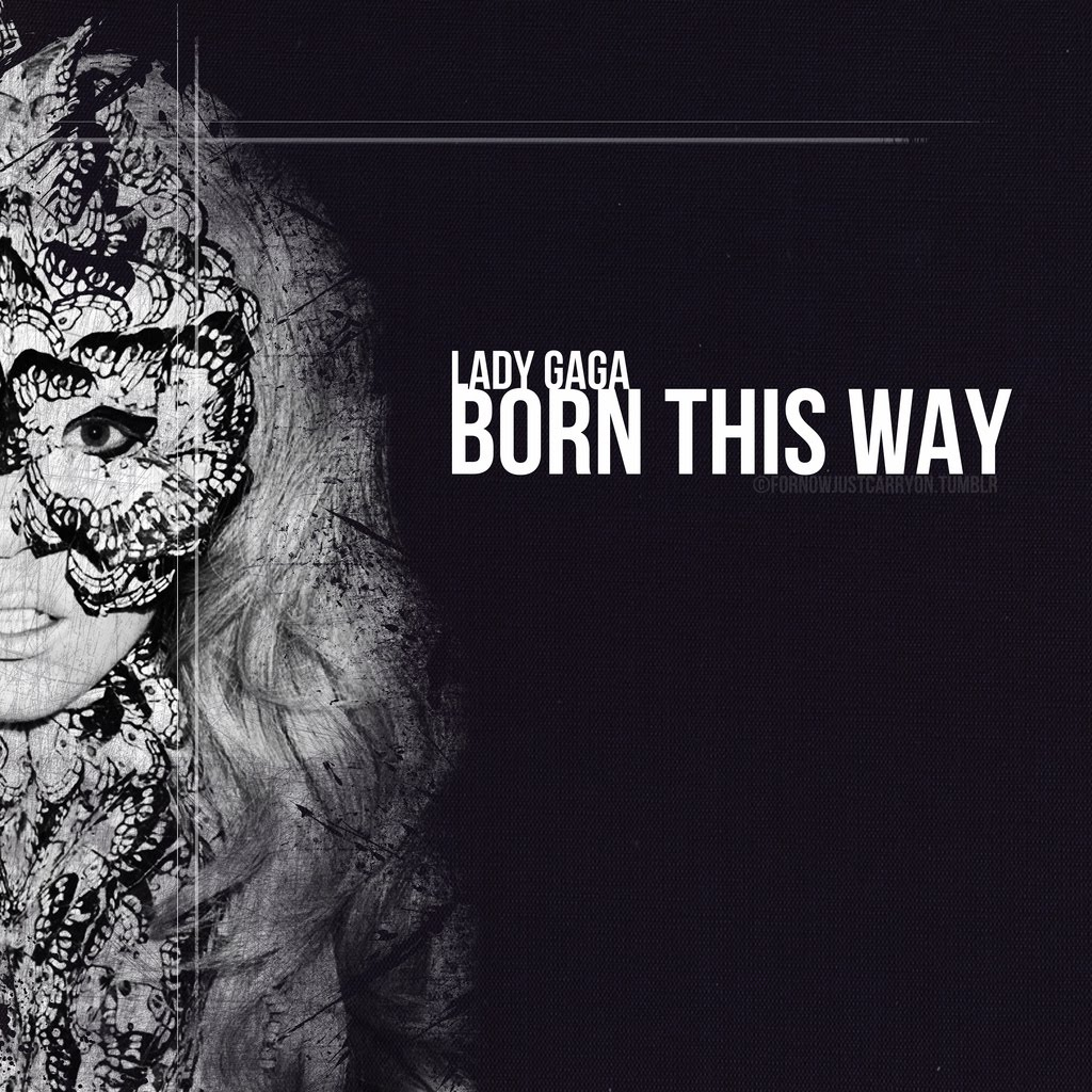 hollywood stars lady gaga born this way pt iii fanmade album cover. Black Bedroom Furniture Sets. Home Design Ideas