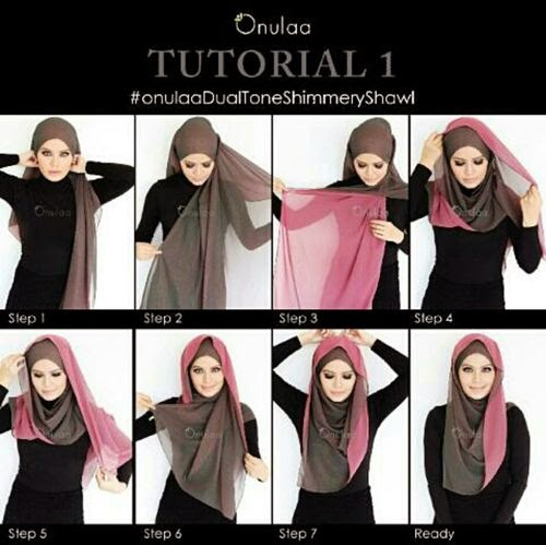 Tutorial Hijab Dual Tone Gampang Mudah