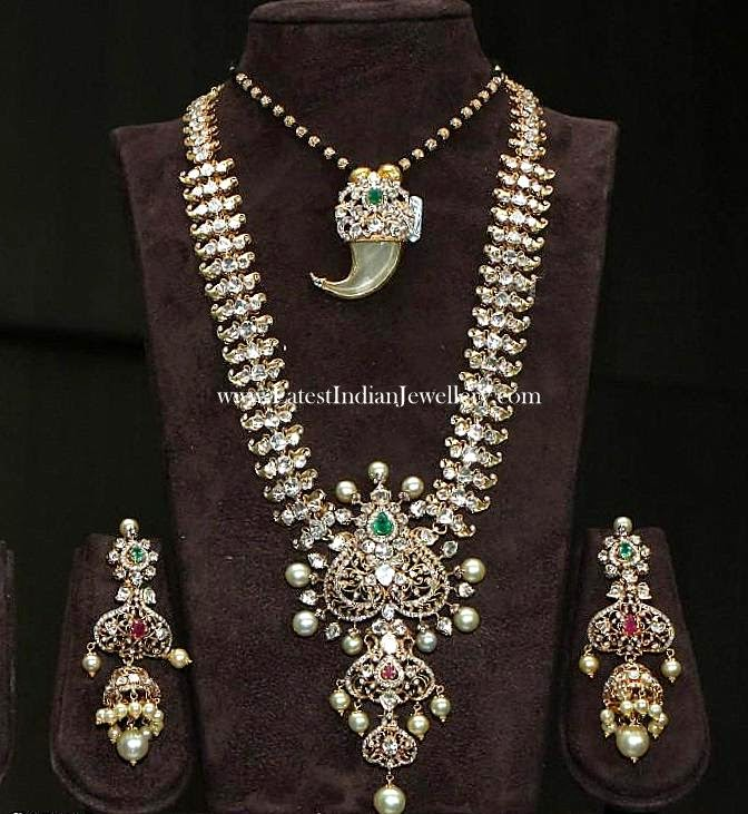 Pachi Diamond Long Bridal Haram