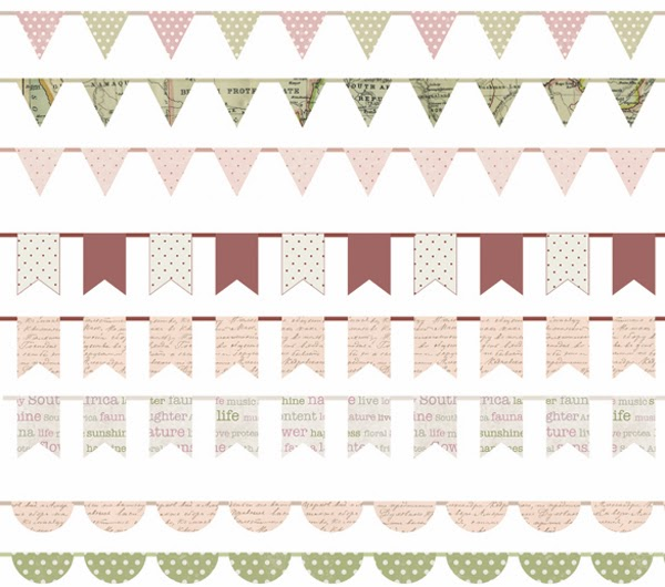 Happiness is... Custom Designed Protea Themed Scrapbooking Pack - bunting
