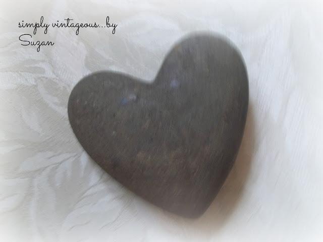 heart, stone, black