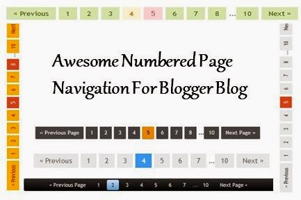 numbered page navigation for blogger blog
