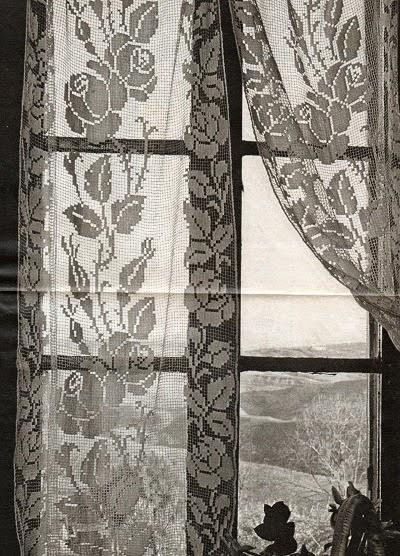 Филейные шторы. 3 схемы