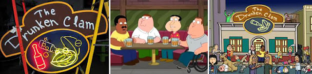 Bar de la serie Family Guy, The drunken clam