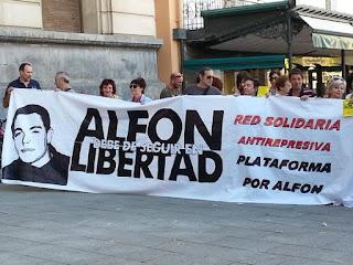 Una concentración en Zaragoza reclama la libertad de 'Alfon'