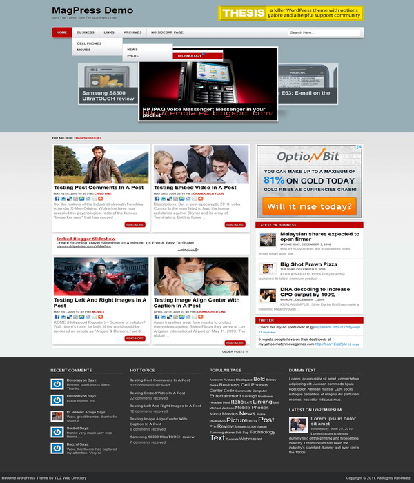 Redome WordPress Theme