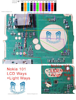Nokia 101 LCD Blank Display Ways Jumpers Porblem Solution. ~ Nokia