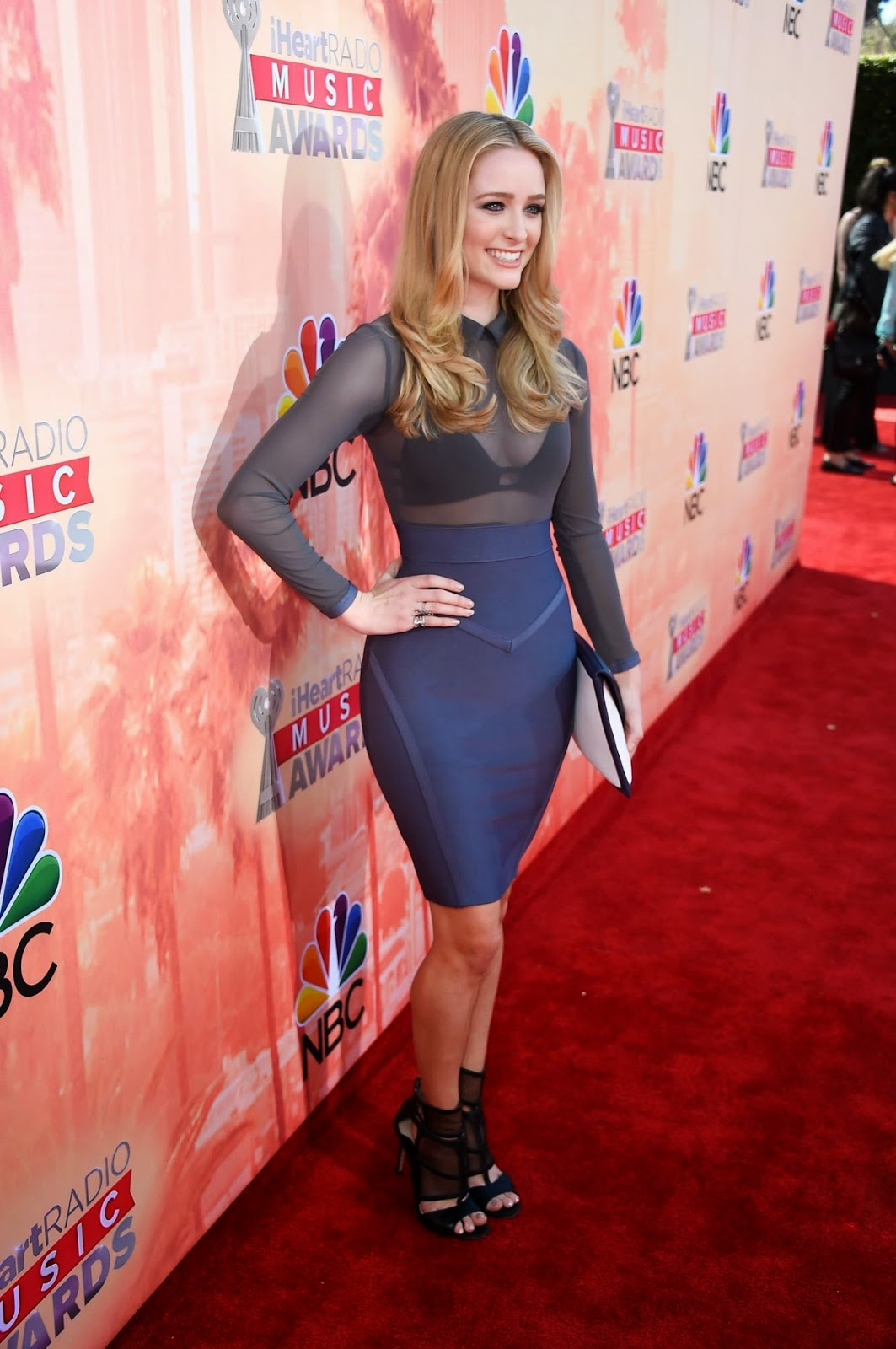 Actress @ Greer Grammer at 2015 iHeartRadio Music Awards in LA