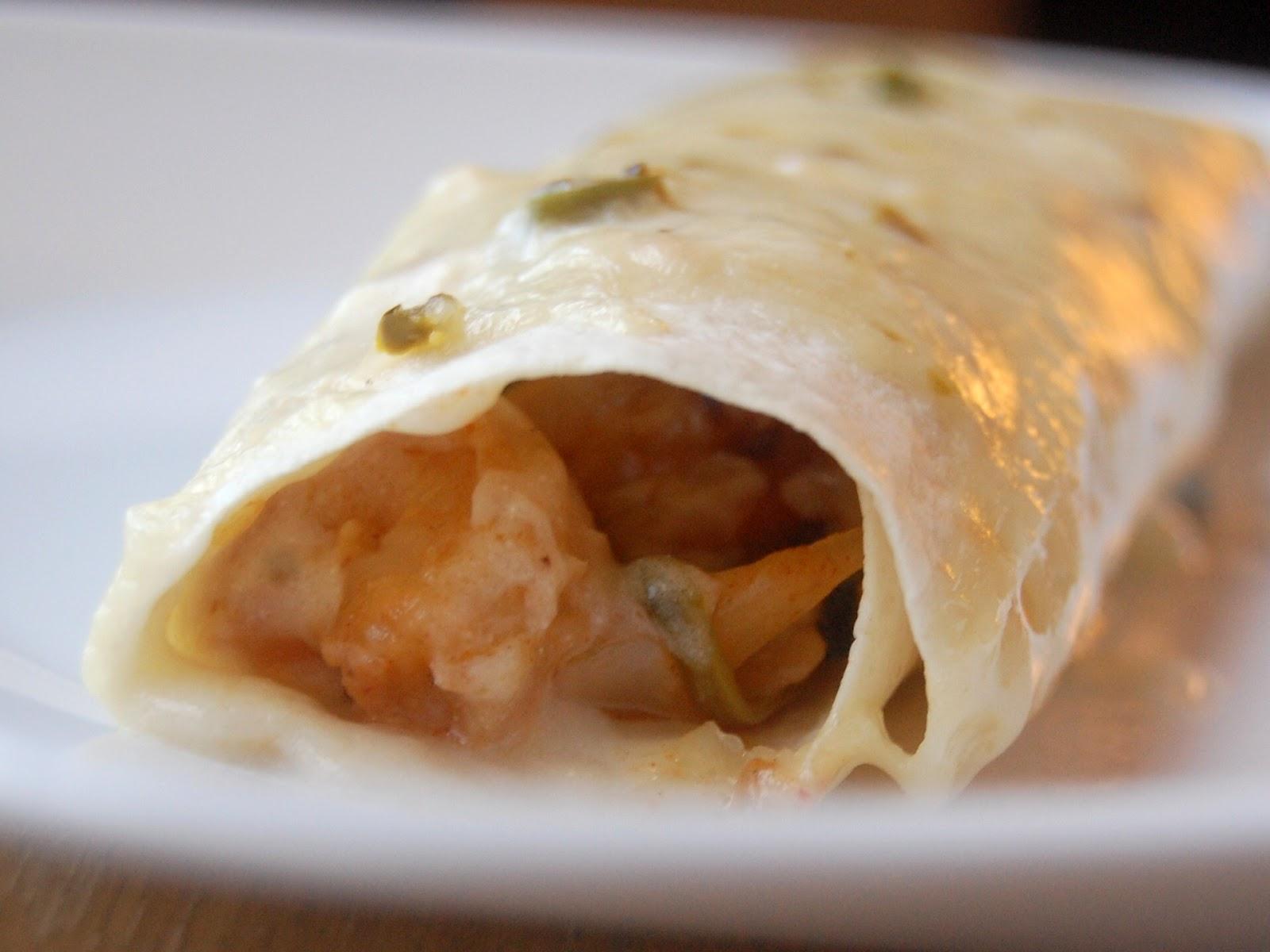 Shrimp Enchiladas Verdes with Jalapeno Cream Sauce