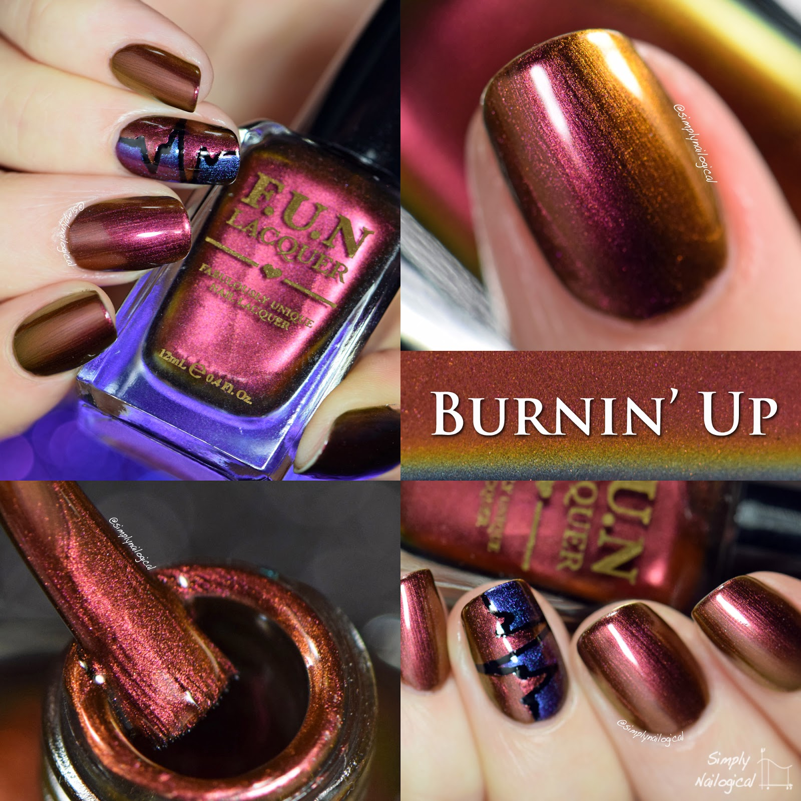 FUN Lacquer Burnin' Up swatch