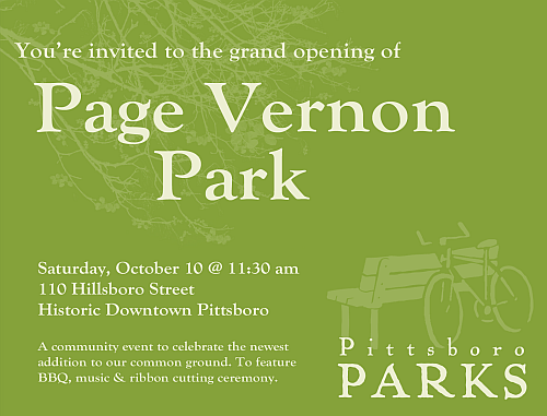 Page Vernon Park Grand Opening! October 10