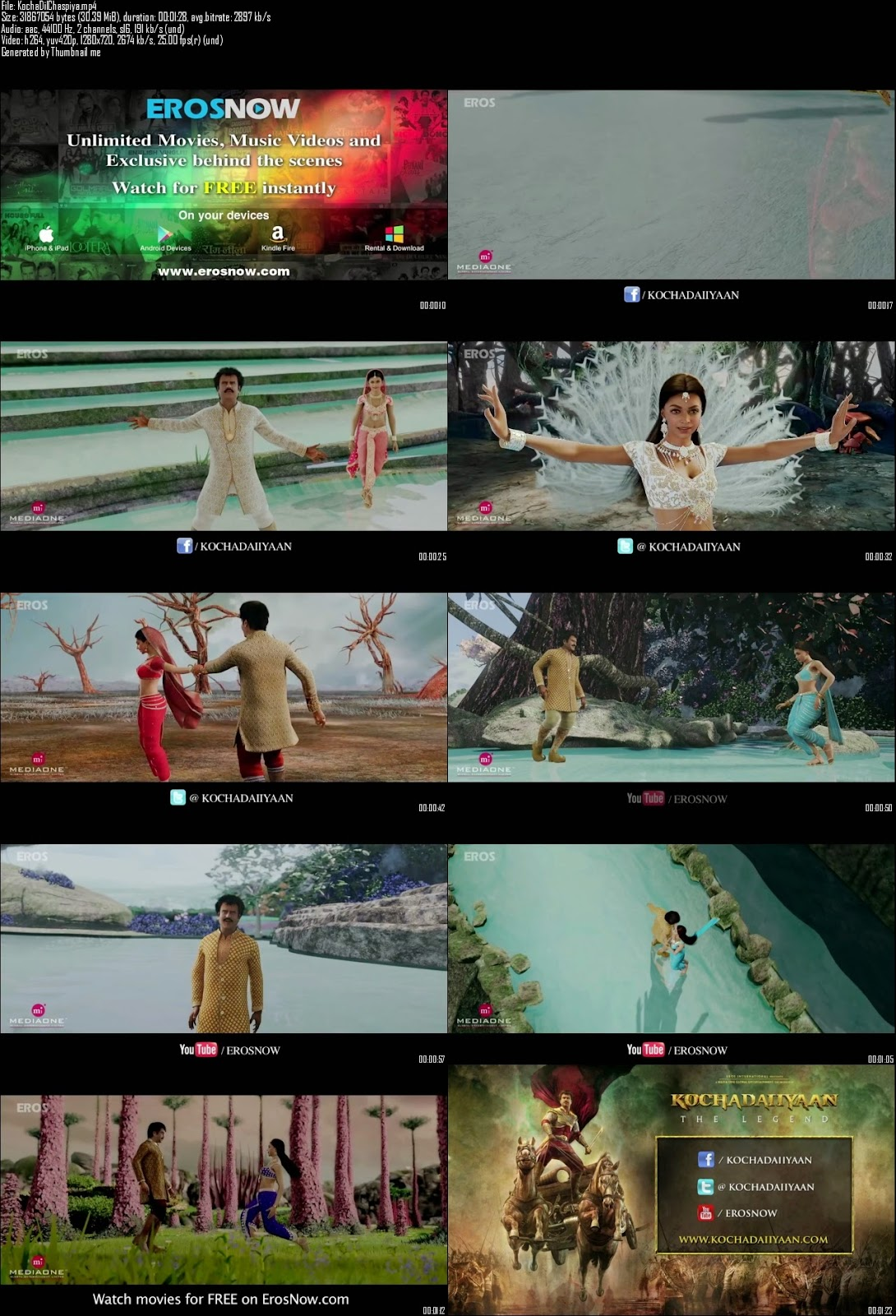 Mediafire Resumable Download Link For Video Song Dil Chaspiya - Kochadaiiyaan (2014)