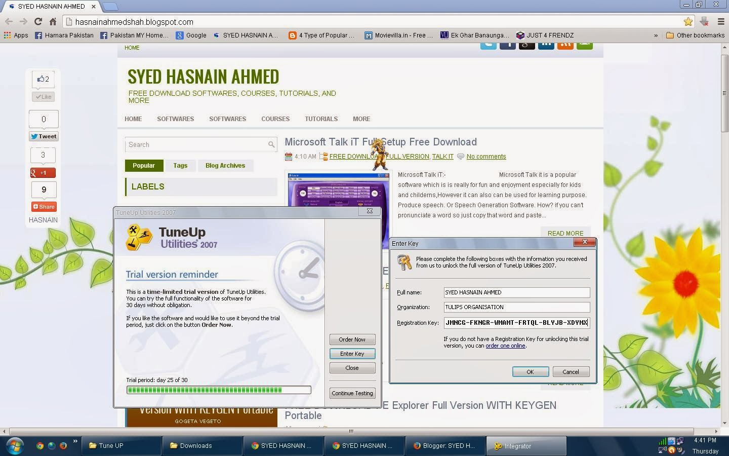 SYED HASNAIN AHMED: FREE DOWNLOAD TuneUp Utilities 2007 Full Version WITH KEY
