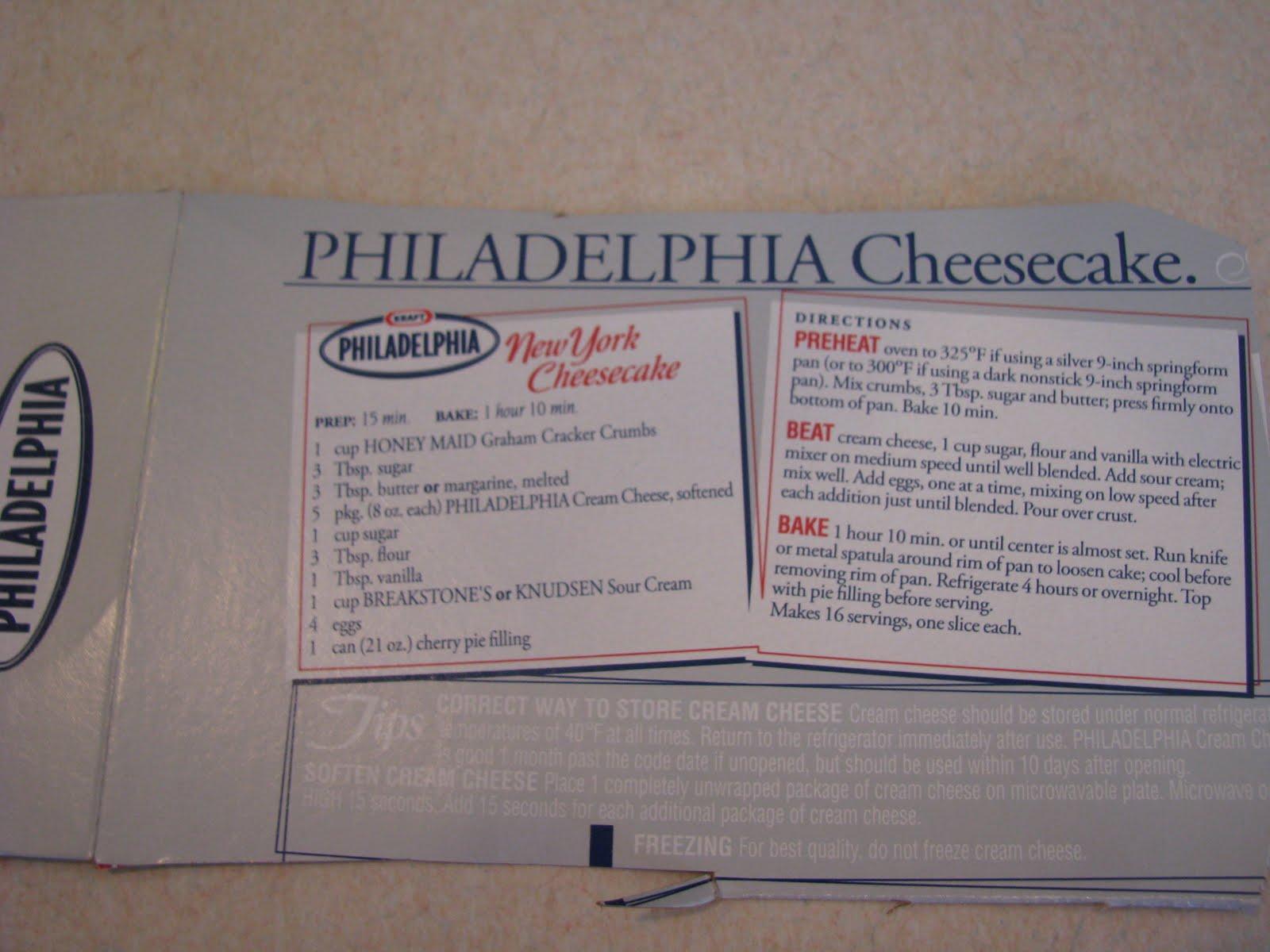 Original Philadelphia Cream Cheese Cake Recipe