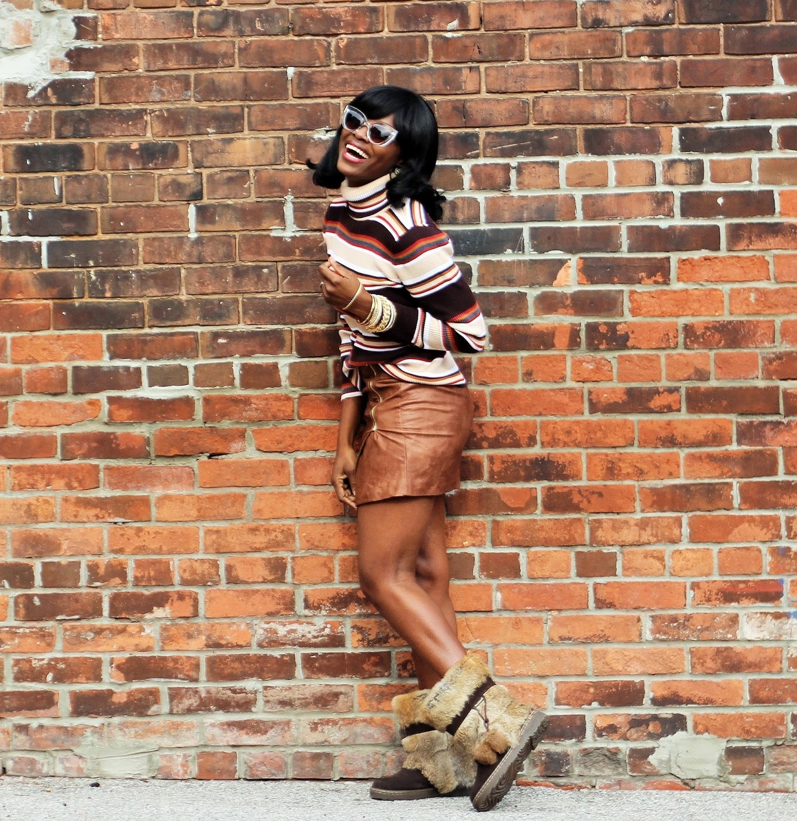 H&M WRAPAROUND SKIRT & BEARPAW TAMA FALL/WINTER BOOTS