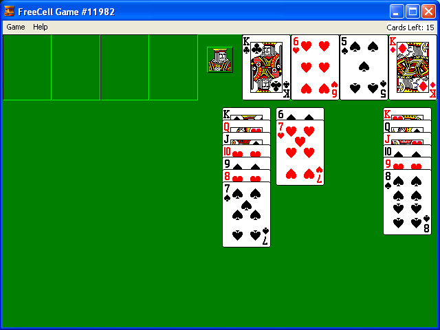FreeCell Game #11982 solved | Funny and/or interesting ...