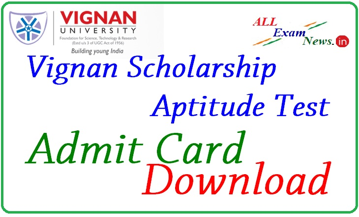 VSAT Admit Card 2015