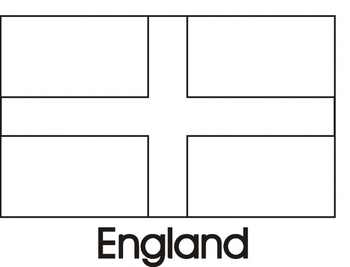 England Flag Coloring Pages