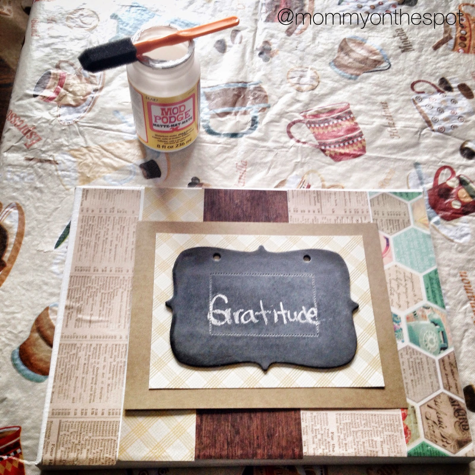 DIY Thanksgiving craft Thankful Thursday Erin Janda Rawlings Mommy on the Spot