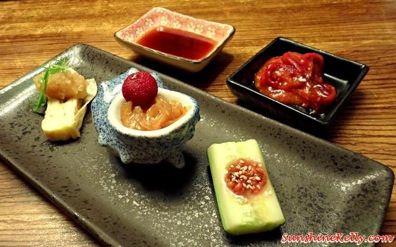 Genji Japanese Restaurant, Hilton Petaling Jaya, Osaka Tokyo Menu, Japanese Food, Omakase Kaizeki Menu, Appetiser, Maki Tamago, Chuka Kurage, Yamamomo, Morokyu
