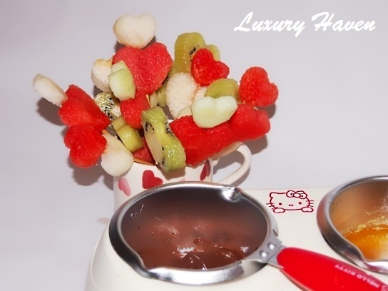 valentines day fruits fondue recipe