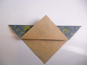 cara membuat origami love sebagai kartuvalentine