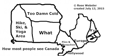 Cartoon Map of Canada (How Most People See Canada) by RoseWrites 2015