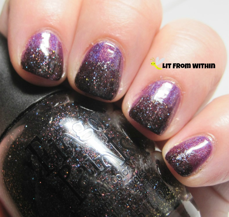 Finger Paints Winter Chill, a blackish-purple textured glitter