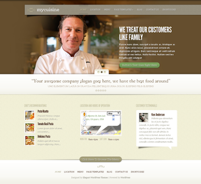 MyCuisine - Restaurant Wordpress Theme Free Download by ElegantThemes.